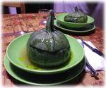 カボチャのリゾット(野菜スープ仕立て)