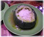 カボチャのリゾット(野菜スープ仕立て).2