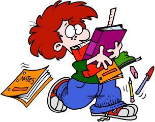 Studente impegnato